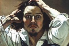 Le désespéré, Gustav Courbet, 1845 - wikimedia commons, domaine public