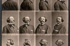 Autoportrait tournant, Nadar, 1865 - wikimedia commons, domaine public
