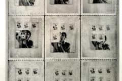 9 photographies polaroid d'un miroir, William Anastasi, 1967