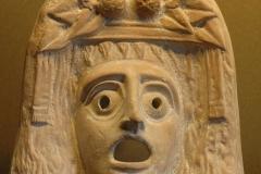 Masque du dieu grec Dionysos, Louvre - wikimedia commons, domaine public