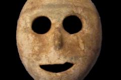 Masque en pierre à chaux de Palestine, néolithique  - Wikimedia commons, par Gryffindor, travail personnel, CC BY3.0