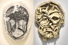 Thomas Houseago, fractured face for MEF & face, 2015 - SL, exposition GP, 2019