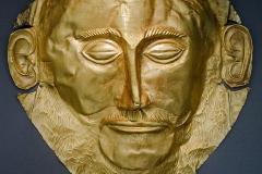 Masque funéraire mycéen Agamemnon, vers 1550-1500 av. J.-C. - Wikimedia commons, par  Die Buche, CC BY-SA 3.0,