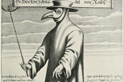 Masque de peste, Dr Paul Fürst, gravure 17ème siècle - Wikimedia commons, domaine public