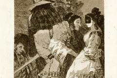 Goya, les caprices N°6, Personne ne se connaît, 1799 - Wikimedia commons, domaine public