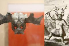 Masque shaman, rituel de chasse, Star Carr, Angleterre, vers 8000 av. J.C. - SL, British Museum, 2019