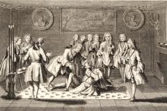 Assemblée de Francs-Maçons pour la Réception des Maîtres, Jacques Philippe Le Bas, 1707-1783 –bnf - Wikimedia commons, domaine public
