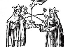 Le Rosaire des philosophes, la conjonction, 14ème siècle - domaine public