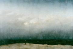 Caspar Gustav Friedrich, le Moine au bord de la mer, 1808-1810 - wikipedia commons, domaine public
