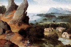 Patinir, paysage avec fuite en Égypte, 1516 -1517 - wikimedia commons, domaine public