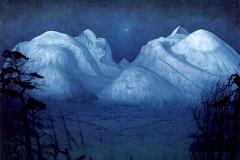 Harald Sohlberg, nuit d'hiver dans les montagnes, 1914 - SL