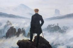 Caspar David Friedrich, voyageur au dessus de la mer de nuages, 1818 - wikimedia commons, domaine public