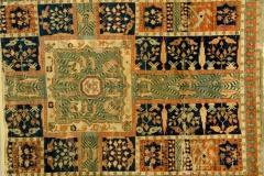Jardin perse chahar bagh, tapis 17-18ème - wikipedia commons, domaine public