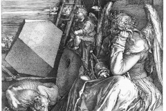 Albrecht Dürer, Melencolia I, 1514 - wikimedia commons, domaine public