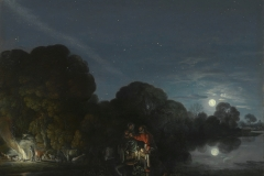Adam Elsheimer, la fuite en Egypte, 1609 - wikimedia commons, domaine public