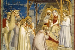 Giotto, adoration des rois mages, 1306 - wikimedia commons, domaine public