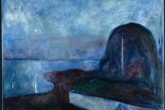 Eduard Munch, nuit étoilée, 1893 - SL, domaine public