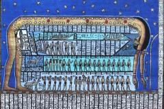 La déesse Nout, plafond salle funéraire, tombe de Ramses V et VI - SL, domaine public