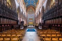 Voute étoilée, choeur de la cathédrale Carlisle, 14ème siècle - wikimedia commons, Diliff CC BY-SA 3.0