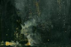 Whistler, nocturne en noir et or, 1874 - wikimedia commons, domaine public