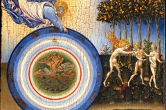 Giovanni di Apolo, la création et l'expulsion d'Adam et Eve du paradis, 1445 - wikimedia commons, domaine public