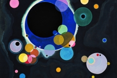Vassily Kandinsky, quelques cercles, 1926 - wikimedia commons, domaine public