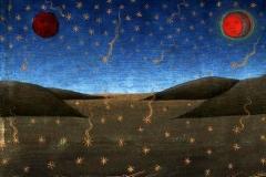 Mort du Soleil, de la Lune et de la chute des étoiles, Histoires de San Gioachino et de Sant'Anna, Christoforo de Predis, 1476 - wikimedia commons, domaine public