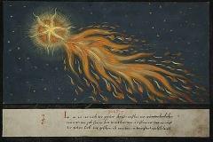 Comète, Le livre des Miracles, 1500 - wikipedia commons, domaine public