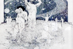 Frantisek Kupka, l'homme et la terre, 1908 - SL, domaine public