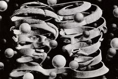 M.C. Escher, bande-lien d'union, 1956 - domaine public