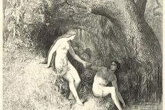 Le Paradis perdu, illustration du livre de John Milton par Gustave Doré - wikimedia commons, domaine public