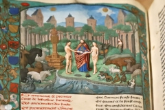 Le jardin d'Eden, enluminure 15ème siècle - SL