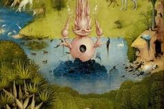 Le Paradis, détail du Jardin des délices, Jérôme Bosch, 1505 - wikimedia commons, domaine public