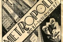 Affiche Metropolis de Fritz Lang, 1927 - wikimedia commons CCBY SA-3.0