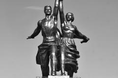 L'ouvrier et la Kolkhozienne,  Vera Ignatievna Moukhina, 1937 - wikimedia commons, Limitchik, CC BY SA 3.0