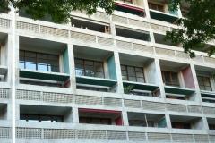 Cité radieuse, façade, Le Corbusier, Marseille, 1952 - wikimédia commons, Michel Georges Bernard, CC BY-SA 3.0