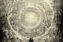 La Rose céleste, la Divine Comédie,  Gustav Doré, 1892 - wikimedia commons, domaine public