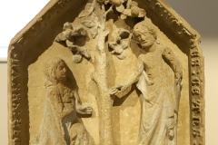 Noli me tangere, stèle Pierre de Jaumont, 1337 - SL2018