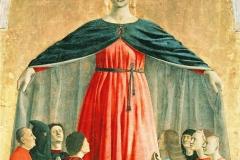 Vierge Miséricorde, Pierro della Francesca 15ème siècle - wikimedia commons, domaine public