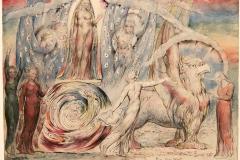 Béatrice et Dante, Divine Comédie, William Blake, 19ème siècle - SL2019