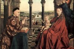 La Vierge et le chevalier Rolin, Jan van Eyck, 1435 - wikimedia commons, domaine public