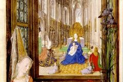 Livre d'heures, Marie de Bourgogne, 15ème siècle - wikimedia commons, domaine public