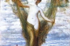 Venus Anadyomene , Arnold Böcklin, 1872 - wikimedia commons, domaine public