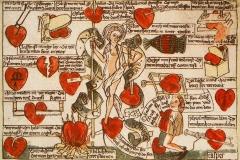 Le pouvoir de Dame Minne sur le cœur des hommes, Maître Gaspar de Ratisbonne, 1479 - wikimedia commons, domaine public